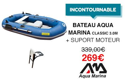 bateau aqua marina classic et support moteur