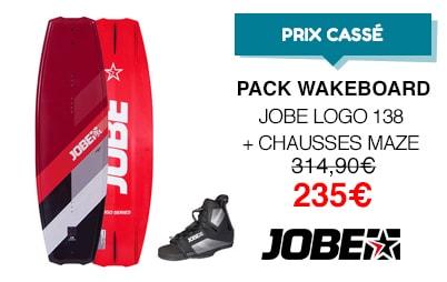 Prix cassés pack wakeboard jobe logo