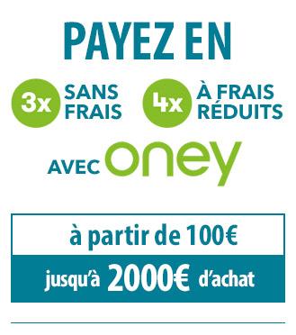 Payez en 3fois iu 4 fois avec Oney