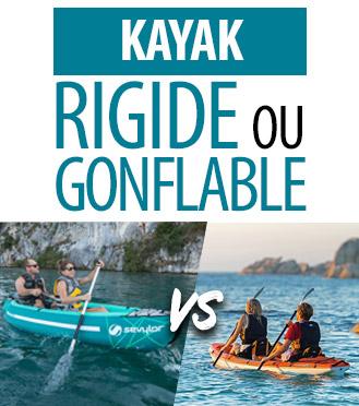 Les différences entre Kayak gonflable & Kayak rigide