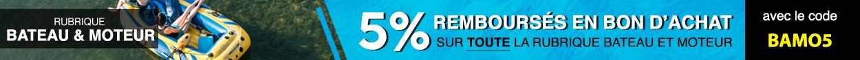 5% remboursés avec le code BAMO5