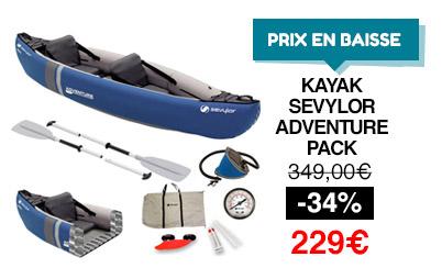 kayak sevylor adventure pack
