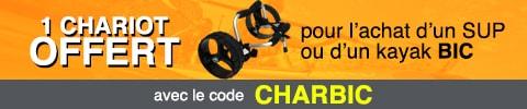 1 chariot offert pour tout sup ou kayak bic acheté