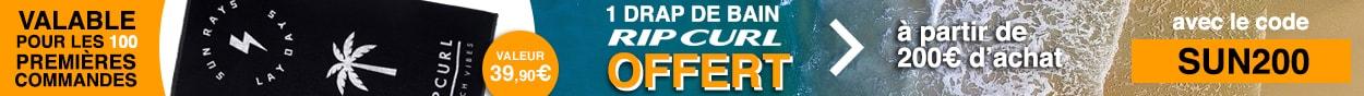 1 drap de bain rip curl pour 200 euros d