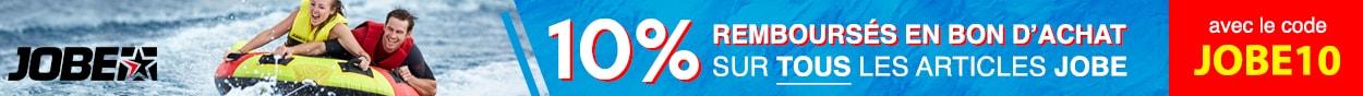 10 pour cent remboursés en bon d