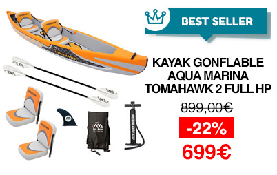 Kayak gonflable 2 places aqua marina tomahawk