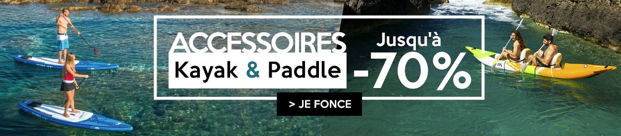 accessoires kayak et paddles jusqu'à -70%