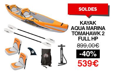 Kayak gonflable 2 places aqua marina tomahawk