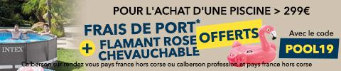 Frais de port + flamant rose offerts