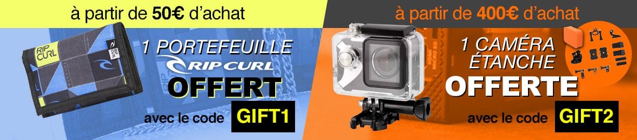 1 caméra étanche offerte dès 400 euros d'achat