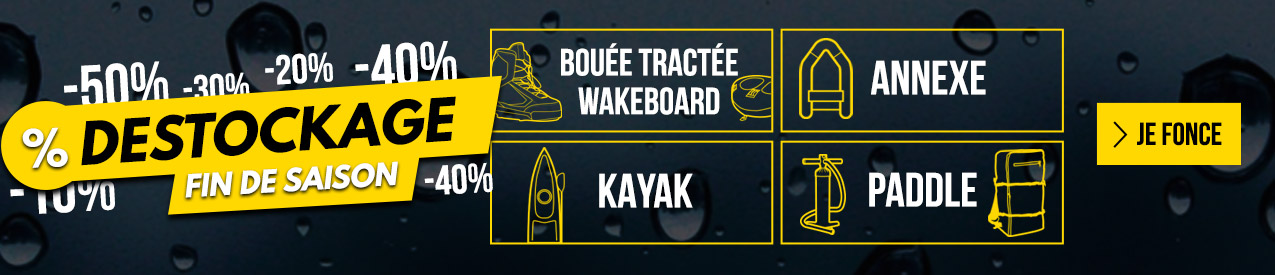 DESTOCKAGE : fin de saison wake sup annexe kayak