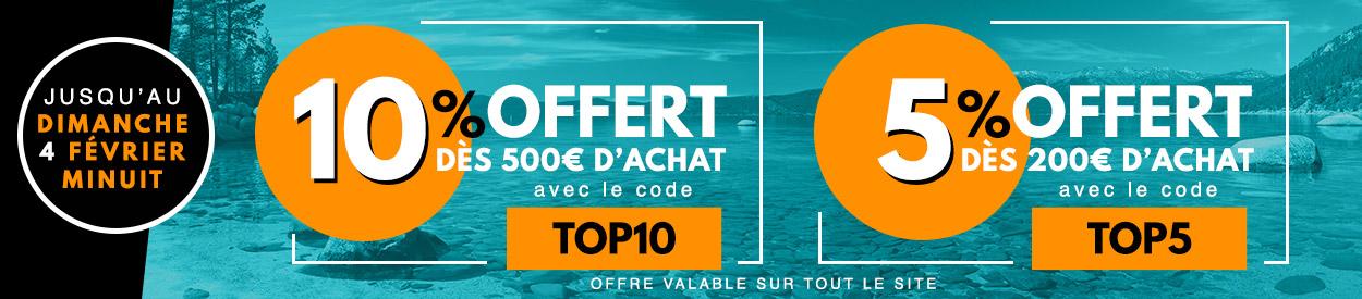 Jusqu'au 4 février : 10% offerts dès 500€ d'achat