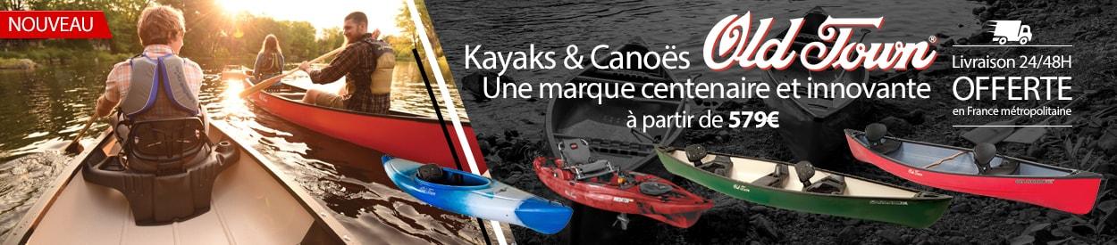 nouvelle marque kayak et canoe old town