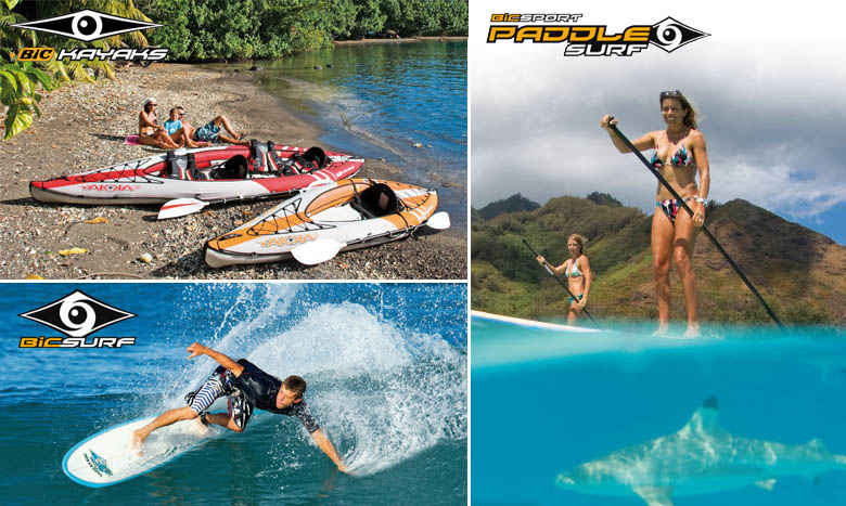 BIC Sport - Kayak, surf et stand up paddle BIC Sport | Nautigames.com