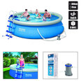 PISCINE AUTOPORTANTE 366 x 91 cm RONDE BESTWAY + KIT DINSTALLATION
