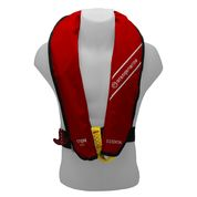 GILET DE SAUVETAGE GONFLABLE AUTOMATIQUE ORANGE MARINE 170N ESSSENTIAL ROUGE