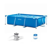 PISCINE TUBULAIRE INTEX METAL FRAME 3,00 X 2,00 X 0,75 M