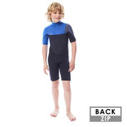 SHORTY JOBE BOSTON 2MM ENFANT BACKZIP BLEU