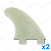 AILERONS FCS GX NATURAL GLASS FLEX SET DE 2