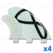 AILERONS FCS Q-7XC NATURAL GLASS FLEX SET DE 4
