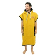 PONCHO ALL IN LIGHT WAFFLE JAUNE/NOIR