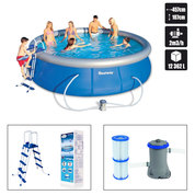 PISCINE AUTOPORTANTE 457 x 107 cm RONDE BESTWAY + KIT DINSTALLATION