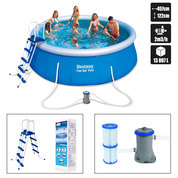 PISCINE AUTOPORTANTE 457 x 122 cm RONDE BESTWAY + KIT DINSTALLATION