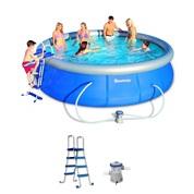 Piscine autoportante 457 x 91 cm ronde bestway kit for Grosse piscine gonflable