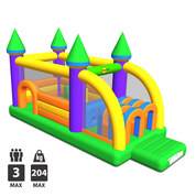 CHATEAU GONFLABLE HAPPY HOP OBSTACLE CASTLE RACER