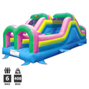 CHATEAU GONFLABLE HAPPY HOP OBSTACLE COURSE