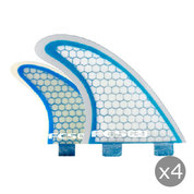 AILERONS FCS Q-PC5 BLUE CLEAR SET DE 4