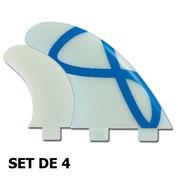 AILERONS FCS Q-5XC NATURAL GLASS FLEX SET DE 4