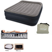 LIT GONFLABLE DELUXE INTEX REST BED FIBER TECH 2 PLACE ELECTRIQUE