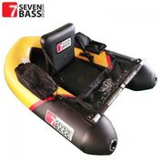 FLOAT TUBE SEVEN BASS BRIGAD RACING 160 NOIR/JAUNE