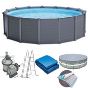 PISCINE TUBULAIRE RONDE INTEX GRAPHITE 4,78 X 1,24M