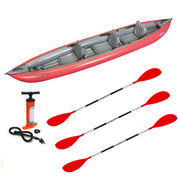 PACK KAYAK GUMOTEX SOLAR 410C 3 PLACES ROUGE