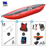 PACK KAYAK GUMOTEX TWIST 1 NITRILON ROUGE