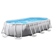 PISCINE TUBULAIRE OVALE INTEX PRISM FRAME 6,10 X 3,05 x 1,22 M