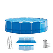 PISCINE TUBULAIRE RONDE INTEX METAL FRAME 4.57 X 1.22