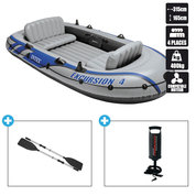 BATEAU GONFLABLE INTEX EXCURSION 4 + 2 AVIRONS + GONFLEUR