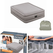 LIT GONFLABLE INTEX FIBER TECH 2 PLACES GONFLEUR INTEGRE