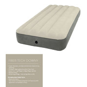 MATELAS GONFLABLE INTEX AIRBED FIBER TECH 1 PLACE