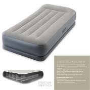 MATELAS GONFLABLE INTEX MID-RISE FIBER TECH 1 PLACE