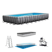 PISCINE TUBULAIRE RECTANGULAIRE INTEX ULTRA XTR FRAME 9,75 x 4,88 x 1,32 M