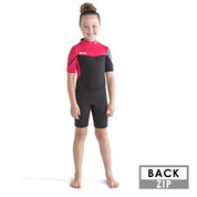 SHORTY JOBE BOSTON 2 MM ENFANT BACKZIP ROSE
