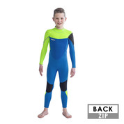 COMBINAISON JOBE BOSTON 3/2MM ENFANT BACKZIP BLEU/VERT