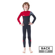 COMBINAISON JOBE BOSTON 3/2 MM ENFANT BACKZIP ROUGE
