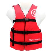 GILET SPORT NAUTIQUE ORANGE MARINE 50N ROUGE