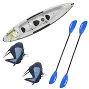 Pack kayak Tahe Borneo gris | Kayak rigide Bic