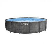 PISCINE TUBULAIRE INTEX ROND BALTIK EFFET BOIS 4.57 X 1.22 M
